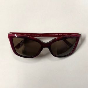 L1059 New Authentic Coach HC 8261 553273 Berry Laminite with Brown Sunglasses